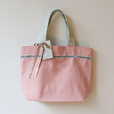sac rose et vert