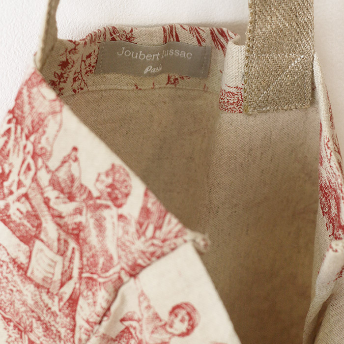 Tote bag en lin rouge